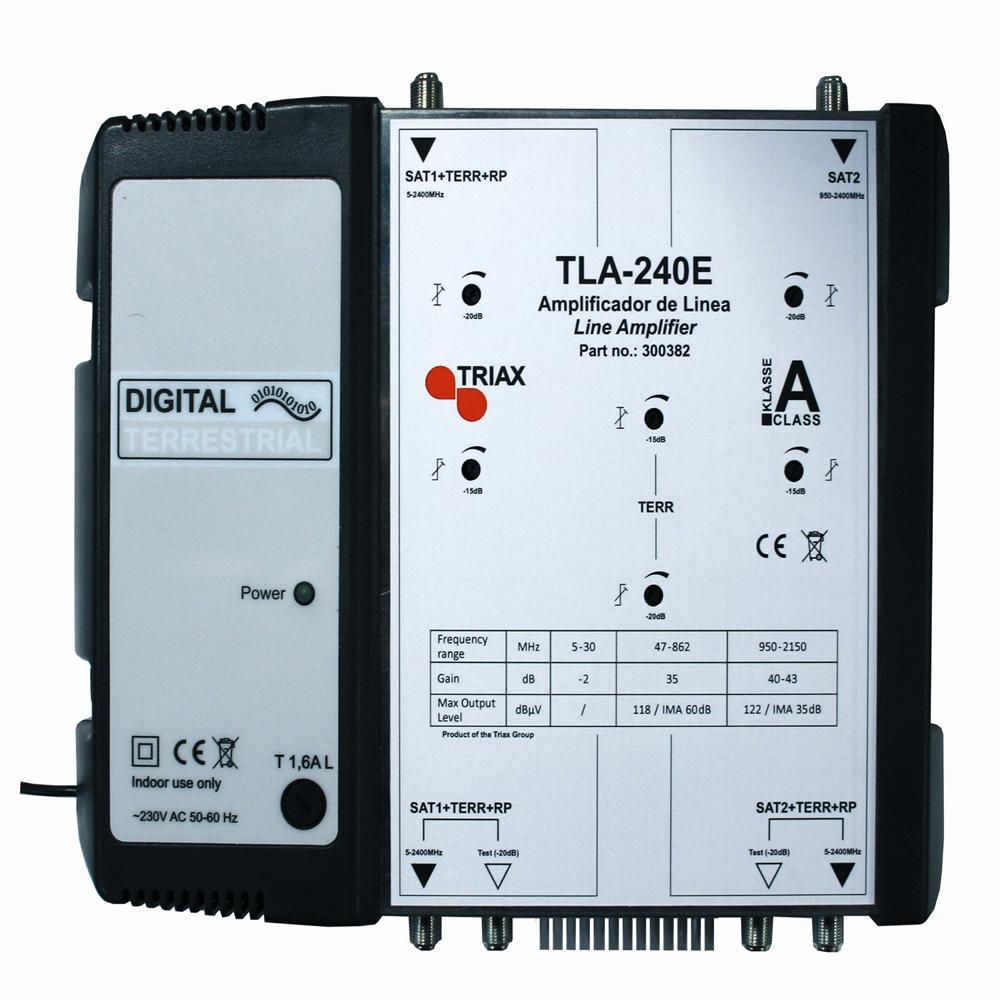 Amplificador de línia TLA 240E 2(FI+Terr)