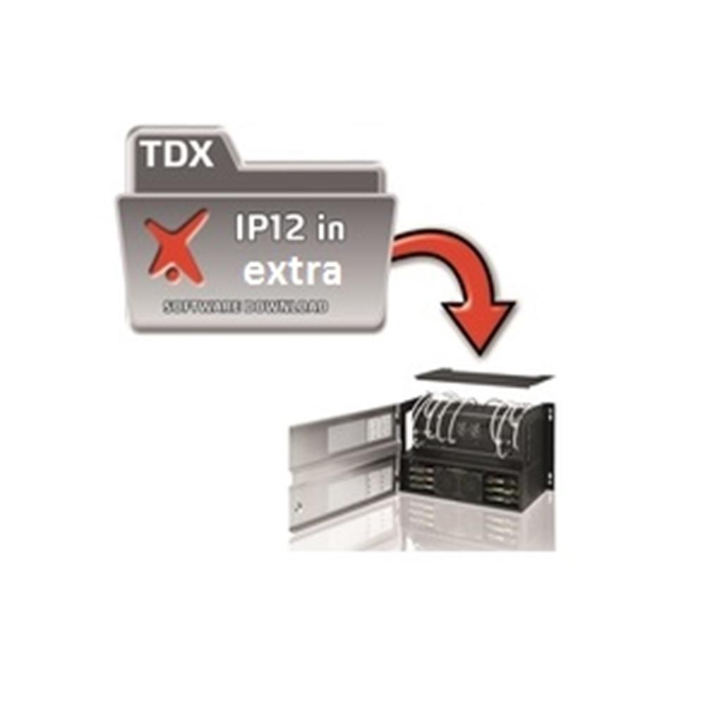Ampliació de 12 adreces IP per a senyals de vídeo d'entrada a la capçalera TDX. Es necessita la activació prèvia.