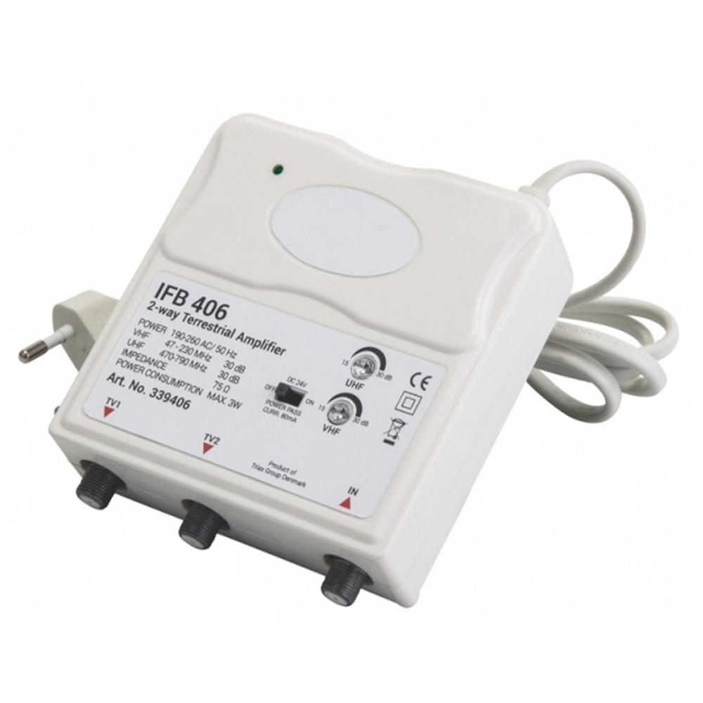Amplificador interior vivienda 1 entrada 2 salidas IFB 406 LTE