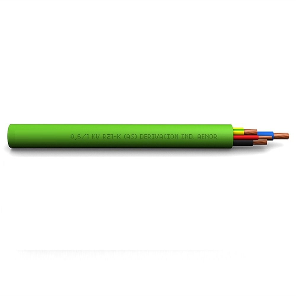 Cable RZ1-K(AS) 0,6/1KV 3G1,5 amb CPR