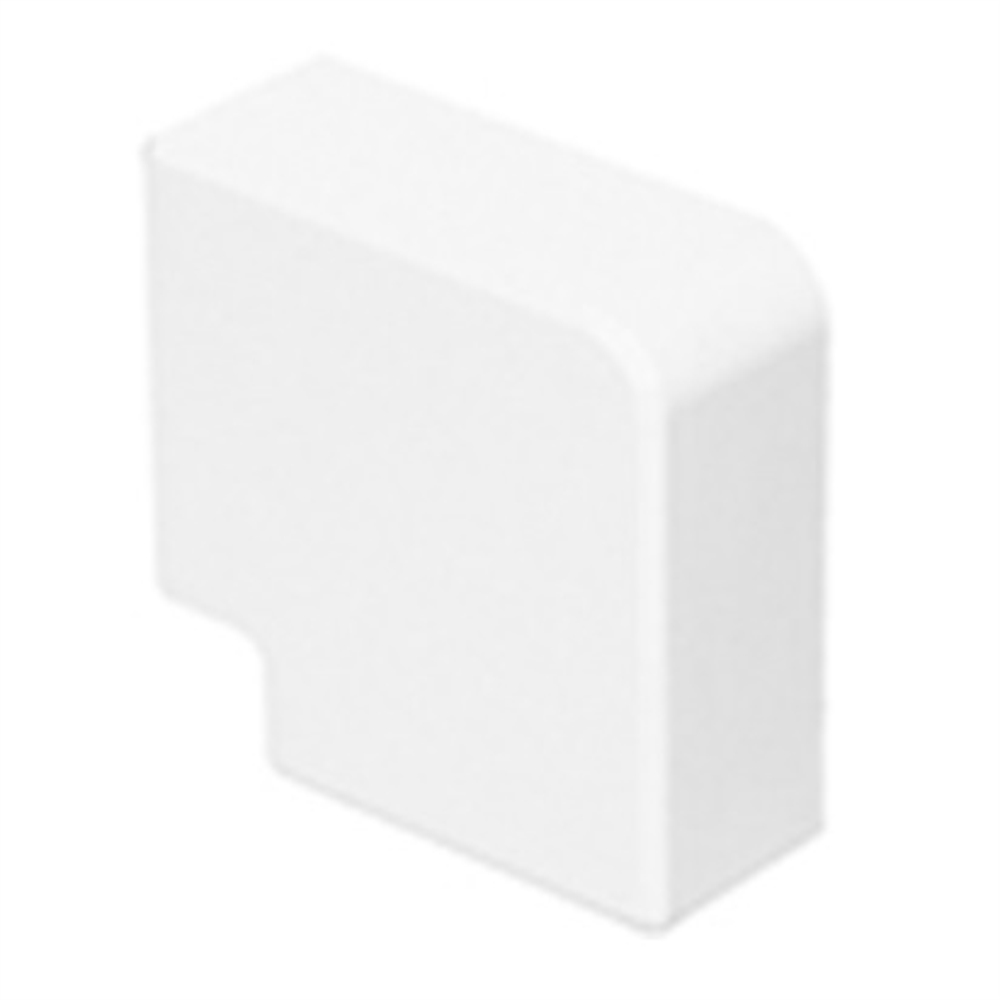Angulo plano Canal 12x7 blanco