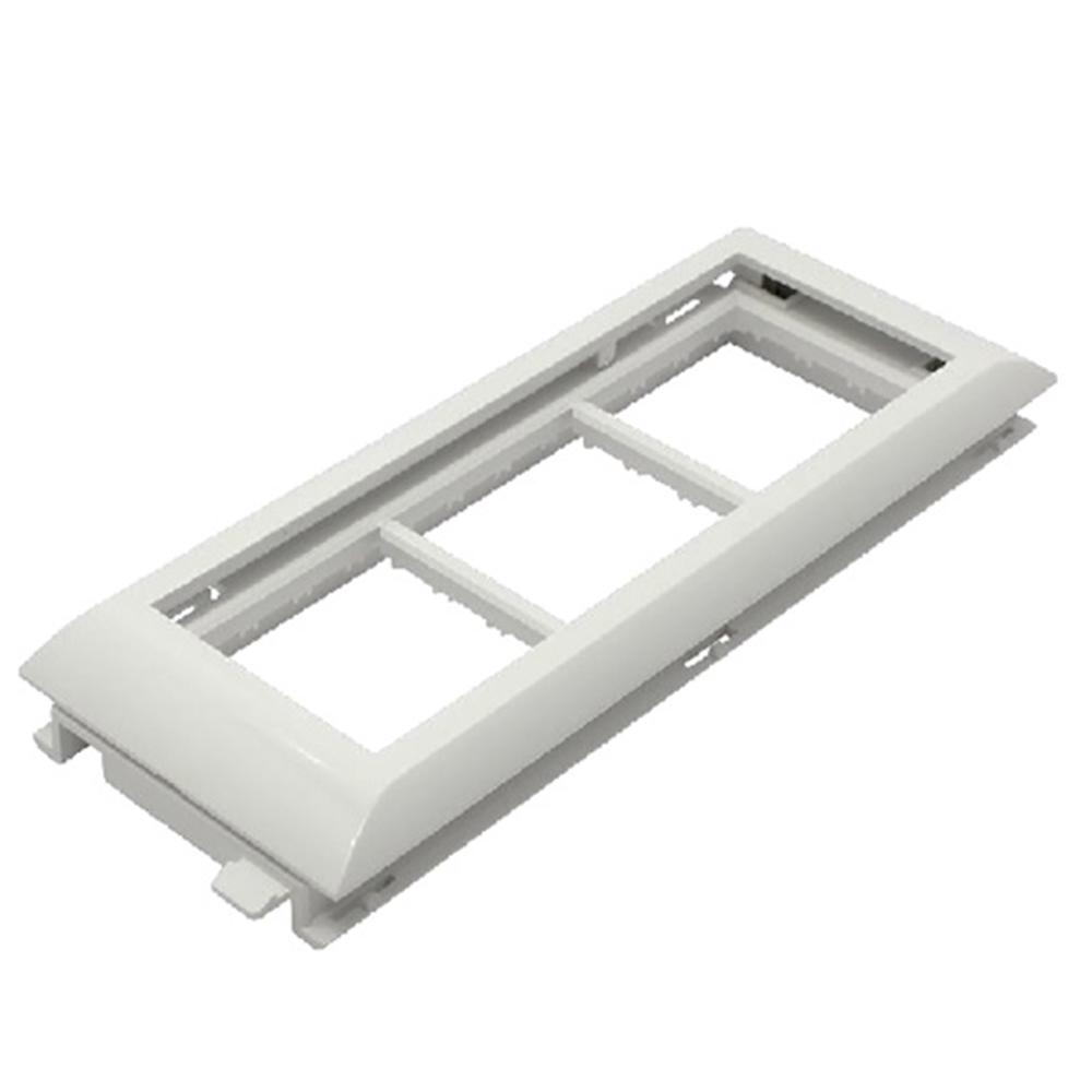 Adaptador triple Q45 Canals amb tapa L60 - 6 Mòduls