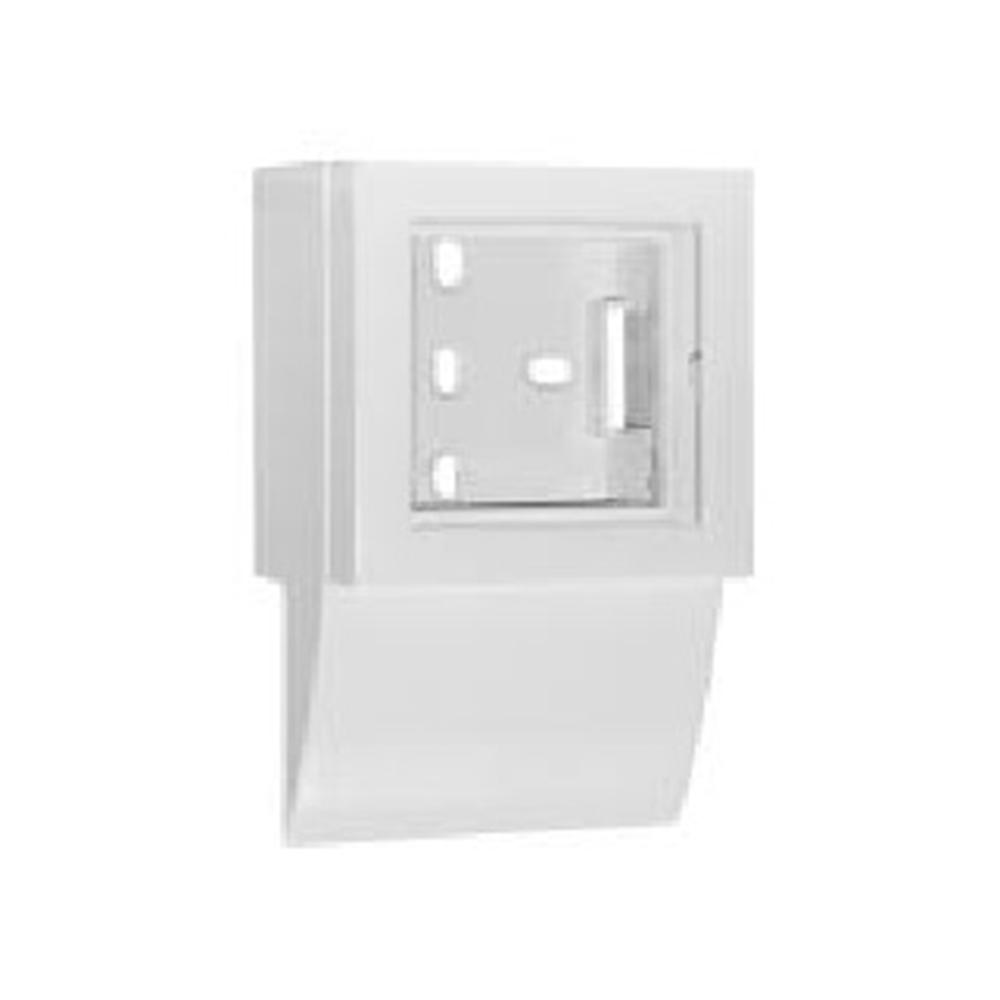 Adaptador lateral Serie Q45 Canal 40X16 Blanco