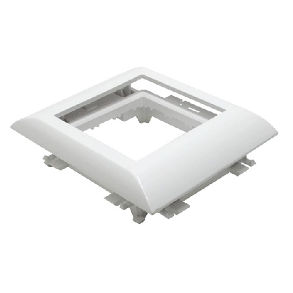 Adaptador Q45 Canales con tapa L60 /75. Blanco