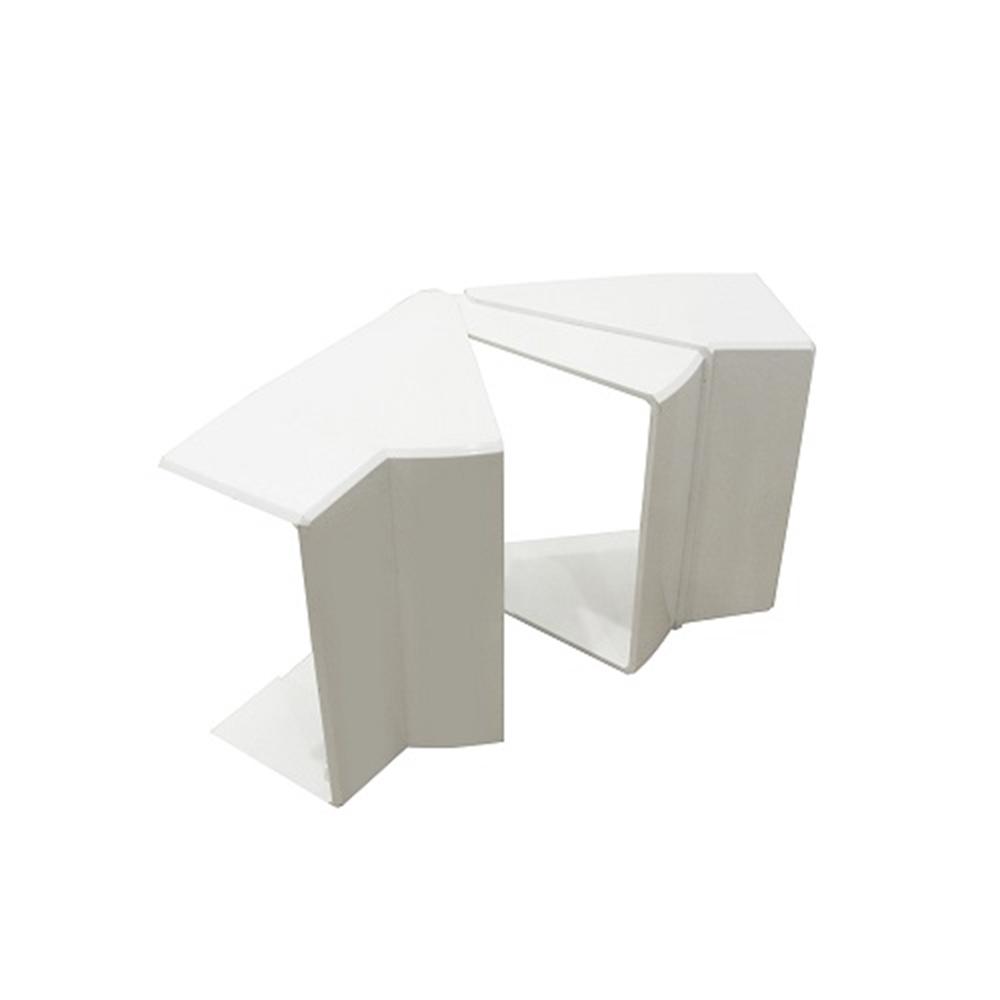Angle interior variable canal 80x40 blanc