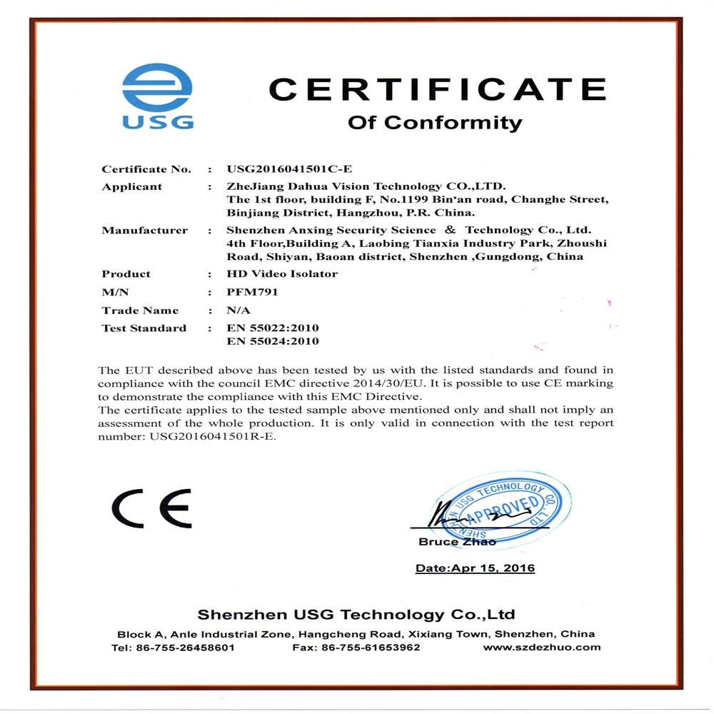 Atenuador Bucle de Tierra BNC para HDCVI