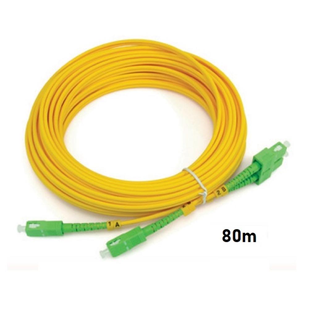 Connexió flexible F.O. monomode SM SC/APC 80m