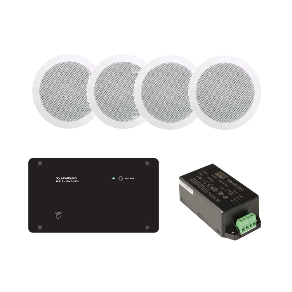 Kit amplificador In ceiling Soundaround wi-fi + 2 altaveus encastar 5,25