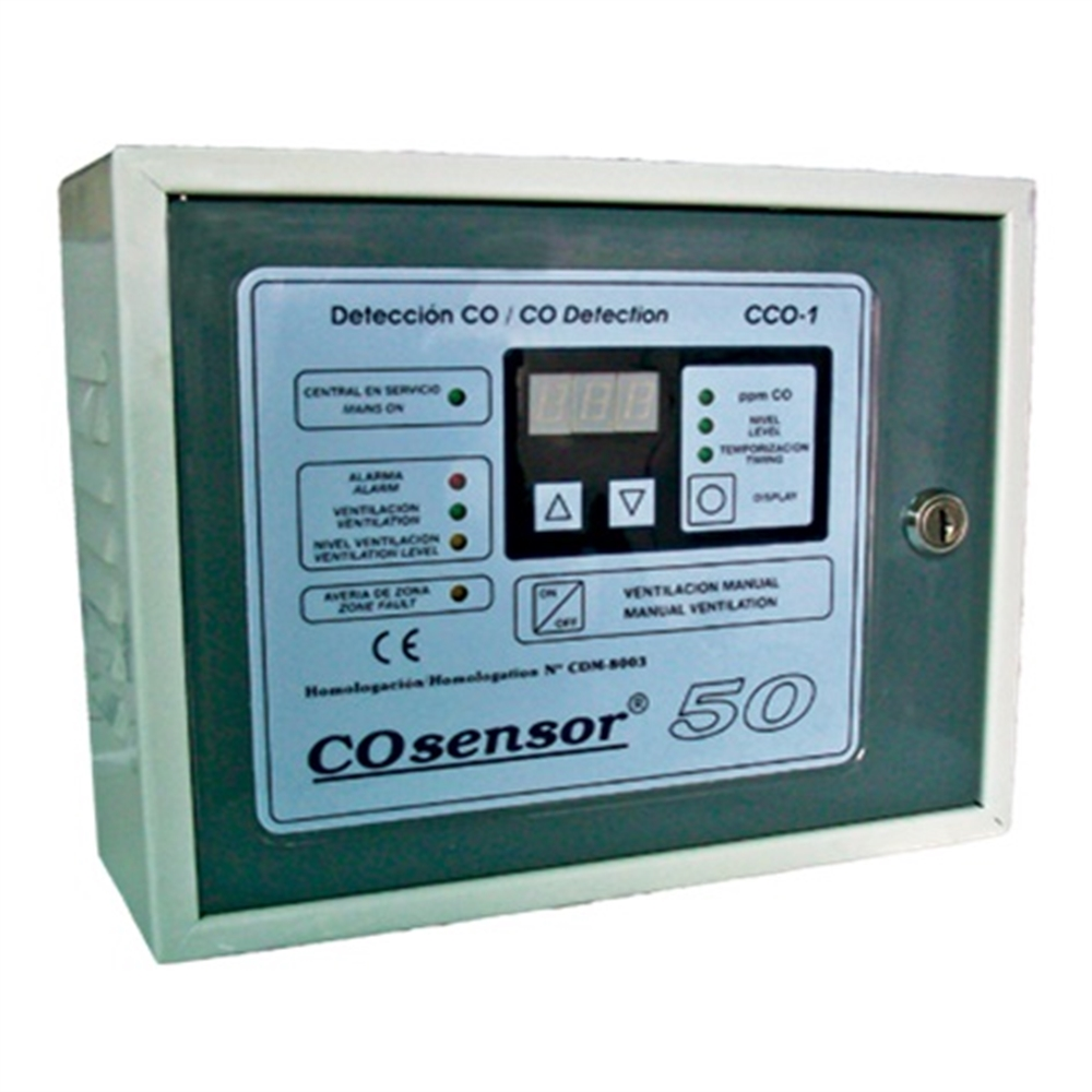 Central detecció de monòxid EGA 1 zona fins 15 detectors