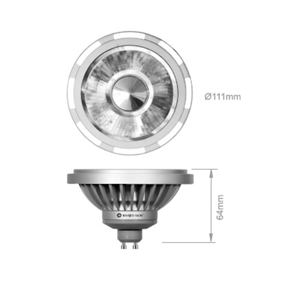 AR111 16-100W GU10 240V 4000K 45º 1100lm