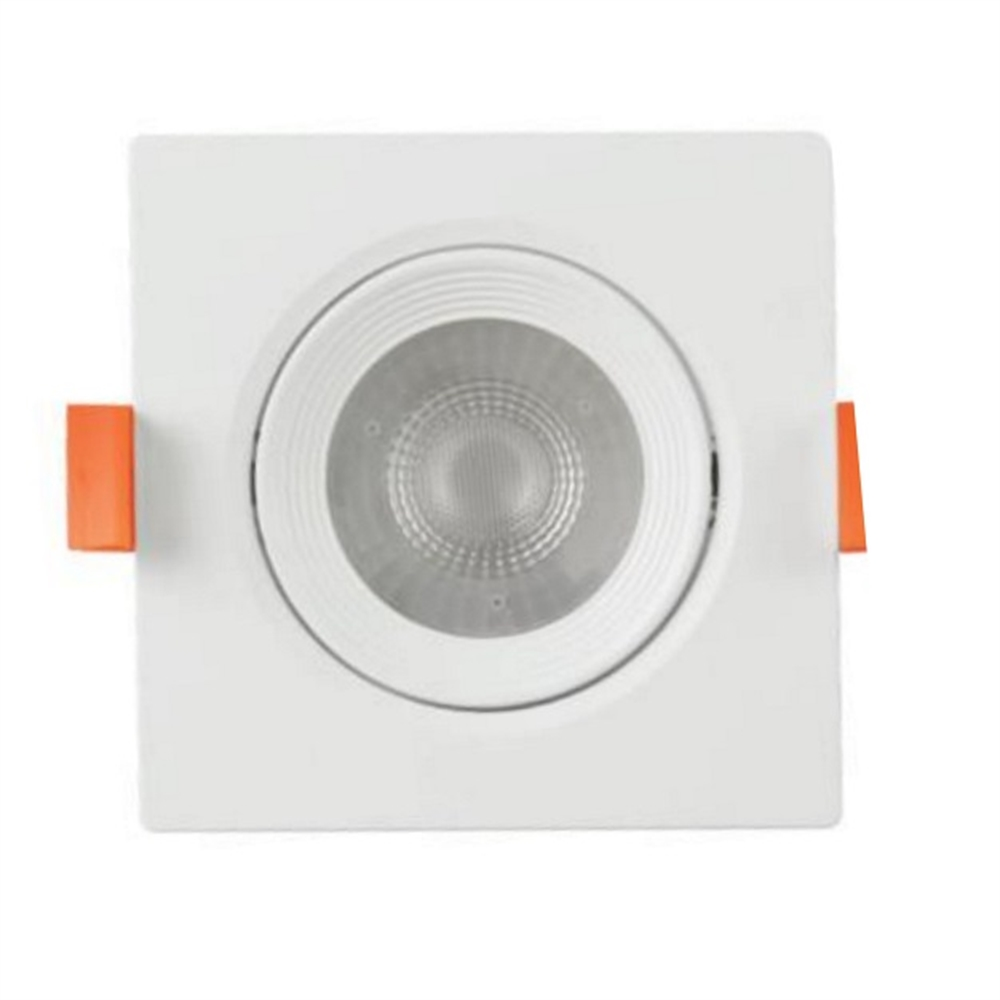 Spotlight LED Buxo quadrat orientable 25º blanc 140x140x53mm IP20 12W 3000K 38º 960lm