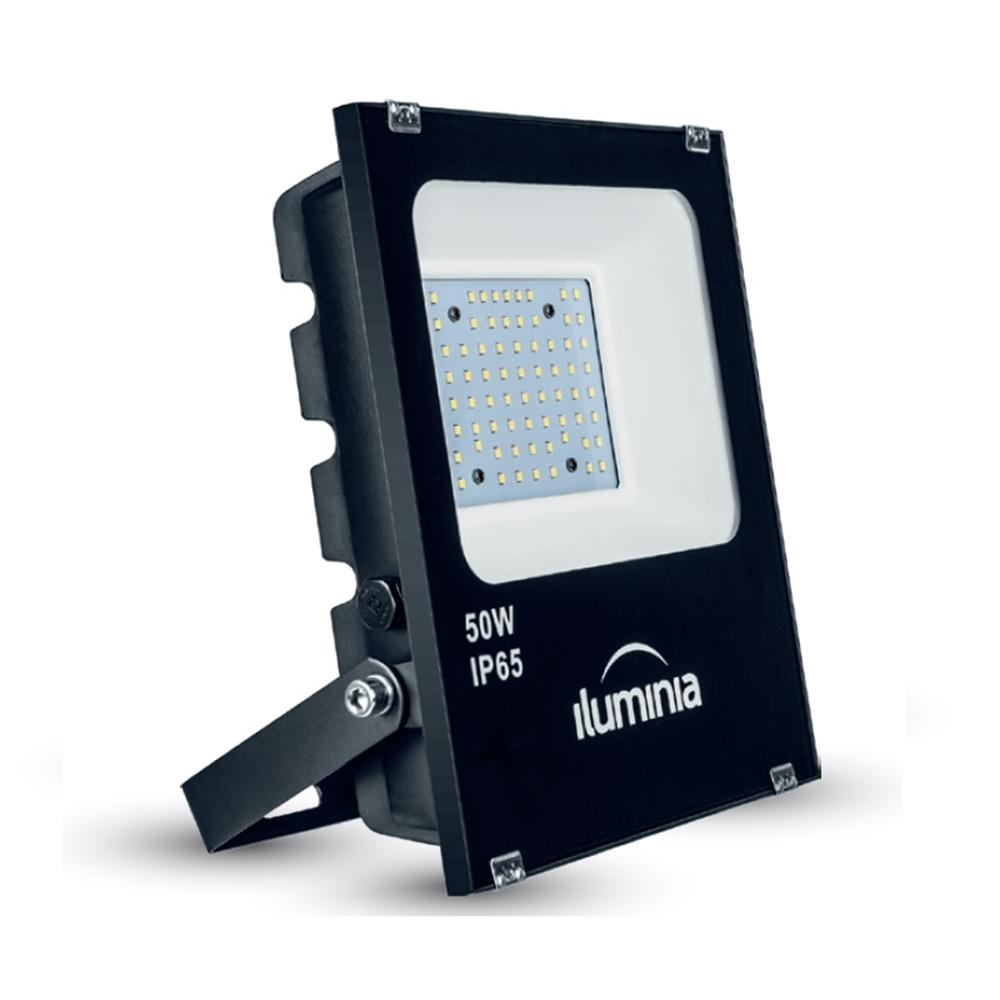 Projector LED Tango negre IP65 amb protector sobretensions 2kV. 50W 100-240Vac 3000K 120º 5680lm