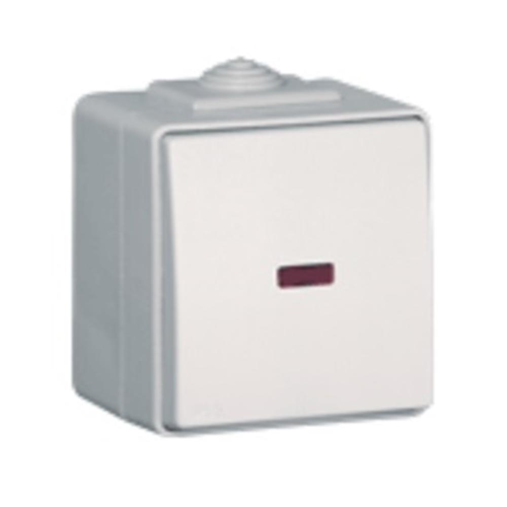 Commutador amb pilot de senyalització IP65 blanc