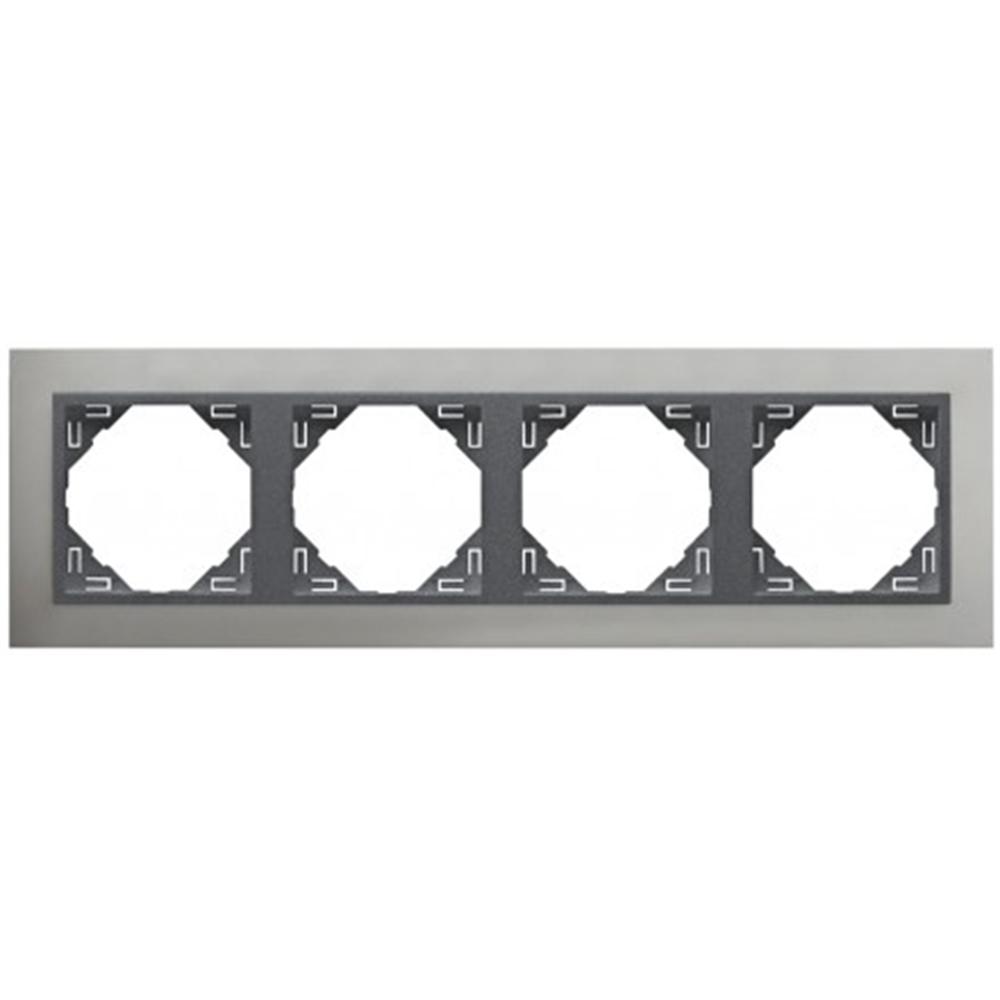Marco cuadruple Aluminio/gris Metallo
