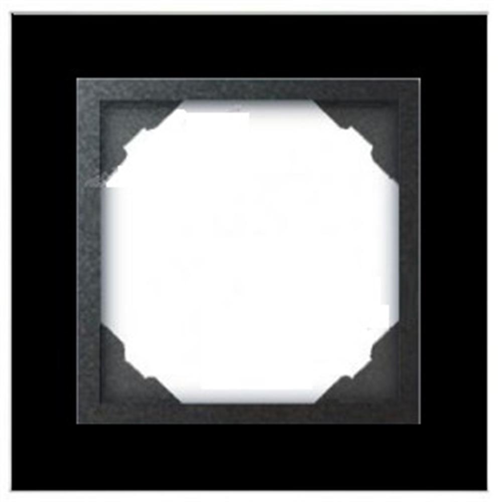 Marco simple 1 elemento Cristal negro/Negro