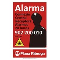 Placa alarma grande catalán