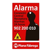 Placa alarma grande castellano