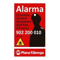 Placa alarma gran castellà