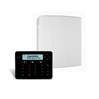 Kit central CR-G2 de 8 zonas cableadas (amp.50 z.) + teclado LCD horizl+proximidad PF negro + Módulo GSM