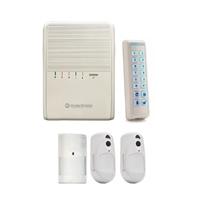 Kit central SYRIS 32 zonas, teclado LED BELUS, 1 detector PIR-CAM y 1 detector PIR + GSM