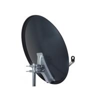 Antena parabólica 80cm acero galv. PF negra