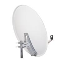 Antena parabólica 80cm acero galv. PF blanca