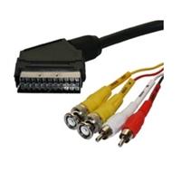 Conexión Audio/Video Euroconector ~ 2BNC+2RCA Mono 1,5m