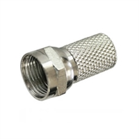 Connector F roscat 6,5 mm per a cable coaxial