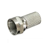 Conector F roscado 6,5 mm para cable coaxial