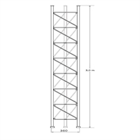 Torreta tramo intermedio de 360 3 metros