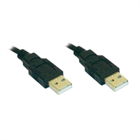 Cable USB A-A 3m mascle-mascle