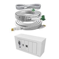 Caixa de connexions techconnect TC3 HDMI, VGA, audio 3,5, amb cable 15m