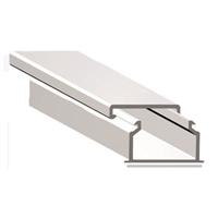 Canal 16x10 blanco con cinta autoadhesiva