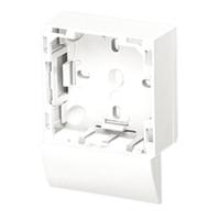 Adaptador lateral Serie 47 Canal 20X12,5 blanco