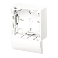 Adaptador lateral Sèrie 47 per canal 20X12,5 blanc