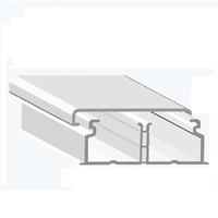 Canal con división interior 40x16 Blanco