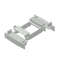 Adaptador modular Q45 para Canales con tapa L75 blanco