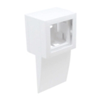 Adaptador lateral Serie Q45 Canal 75x20 Blanco