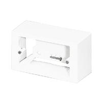 Caja superficie mecanismos tipo italiano blanco