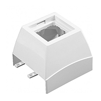 Adaptador Frontal Serie Q45 Canal 75X20 blanc