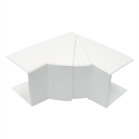 Angle interior variable Canal 40x40 blanc