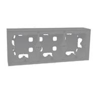 Triple caja de superficie para Serie Logus 90 Gris