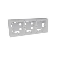 Triple caja de superficie para serie Logus 90 Aluminio