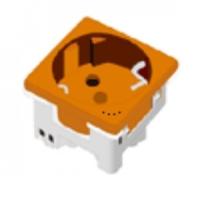 Base enchufe 2P+T (Schuko) Naranja