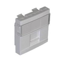 Mòdol per connextors RJ45 1 sortida. 2 mòduls, Alumini