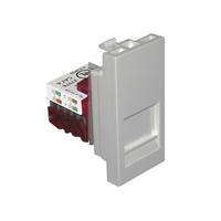 Presa informàtica connector RJ45 CAT6 UTP femella. 1 Mòdul. Q45. Alumini