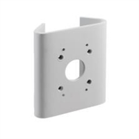 Adaptador de montaje en poste pequeño universal. Blanco