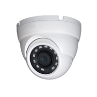 Cámara domo HDCVI 4en1 2Mp D/N IR30m optica fija 2.8mm IP67