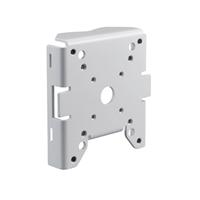 Adaptador de muntatge en pal gran per a caixes de Domo/Autodomo IK10. Blanc.