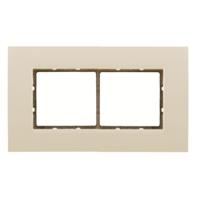 Marco embellecedor 2 modulos, esquinas rectas, blanco